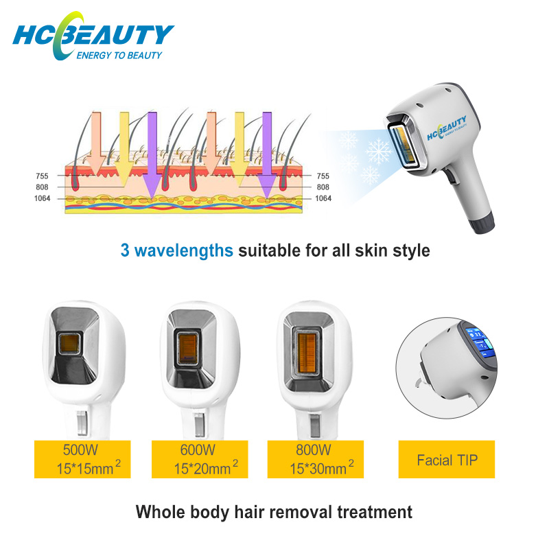 3 Wavelength New Design Cosmetology Machine for Laser Hair Removal